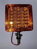 "4"" Square LED Indicator 1 Stud - Amber/Amber"