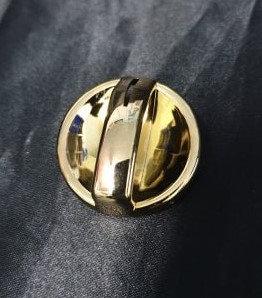 Air Con/Heater Knob (Gold)