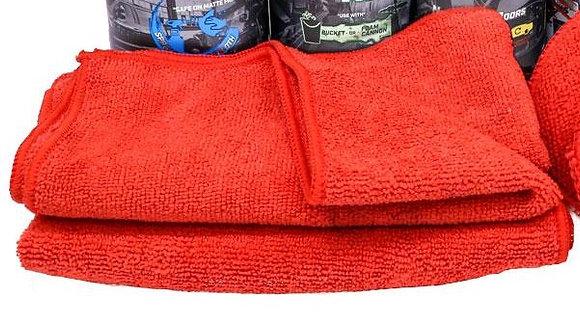 Red Micro Fiber Cloth 40cm x 40cm (5 Pack)
