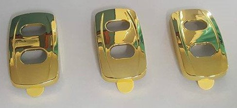 3 Pack Of Rocker Switch Covers 2008> (GOLD)