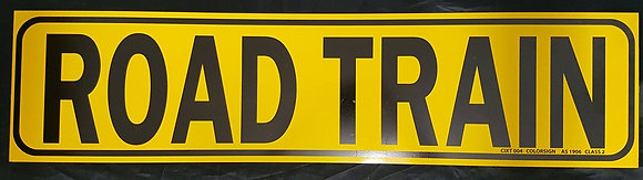1 Piece Road Train Sign