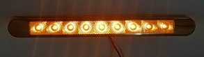 Flush Mount Clearance Light (9LED) - Amber/Amber
