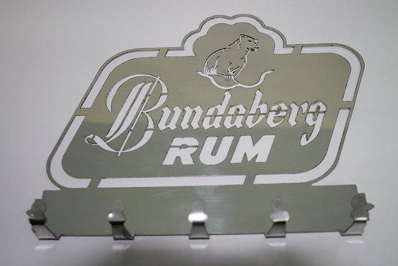 Stainless Steel Key Ring Holder - Bundaberg Rum