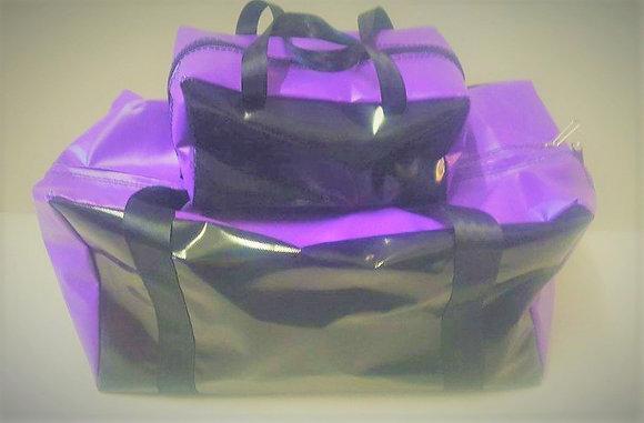 Gear Bag & Toiletry Bag - Purple & Black