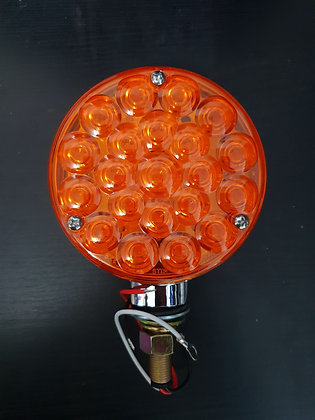 Grand General - 12 Volt Round LED Indicator 1 Stud - Amber/Amber