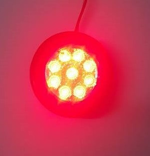 """2"""" Round Grommet Light - Clear/Red"""