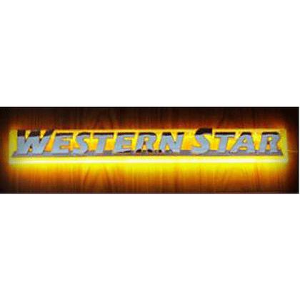 Western Star LED Side Badge Back Light - Amber