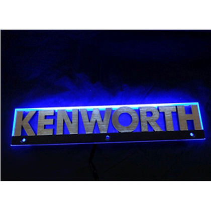 Kenworth LED Side Badge Back Light - Blue