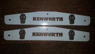 Kenworth Mud Flap Weights - KW Badge Long