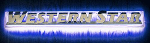 Western Star LED Side Badge Back Light - Blue