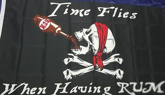Flag - Time Flies When Having Rum