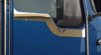Stainless Steel Kenworth Door Trim (Plain) - Pair
