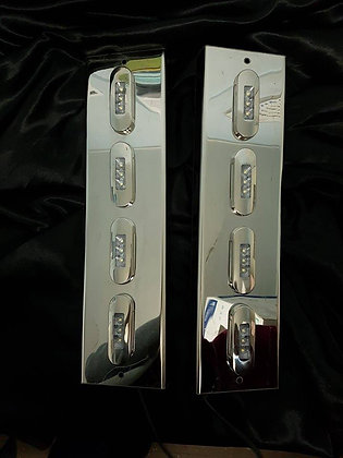 "Mirror Stainless - Clear/White 3"" Flushmount Straight - 4/8"