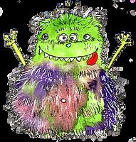 Glücksklecks-Bild Petra Möller Monster