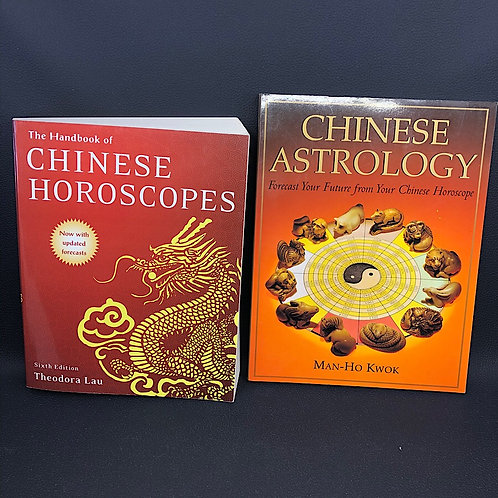 2 BOOKS: CHINESE ASTROLOGY AND THE HANDBOOK OF CHINESE HOROSCOPES