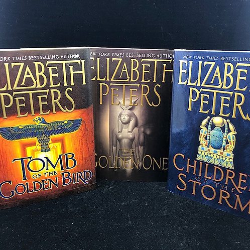 3 BOOKS: THE GOLDEN ONE, CHILDREN OF THE STORM, TOMB OF THE GOLDEN BIRD