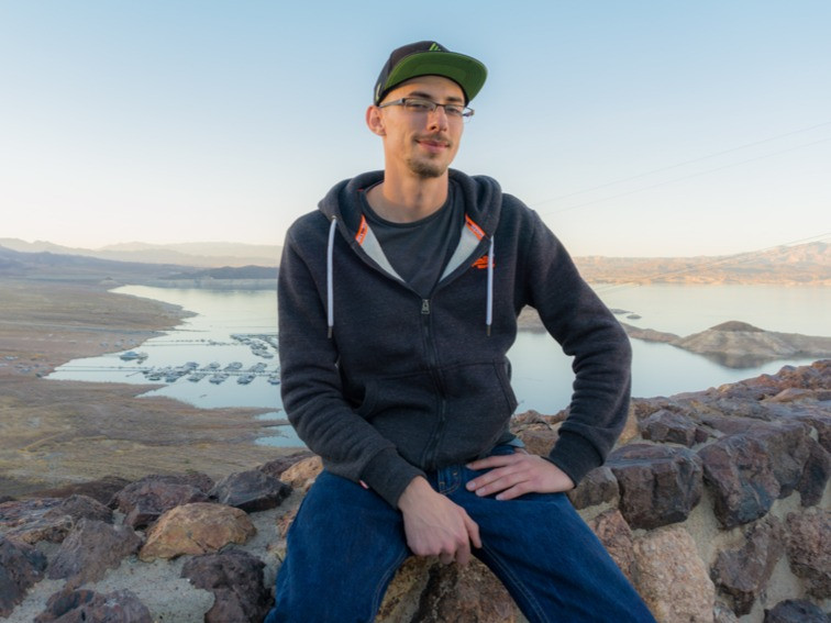 Daniel Neufeld at Lake Mead
