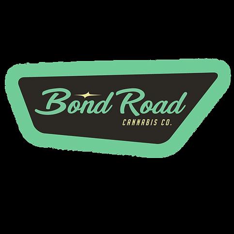 bond road cannabis logo with glow transp