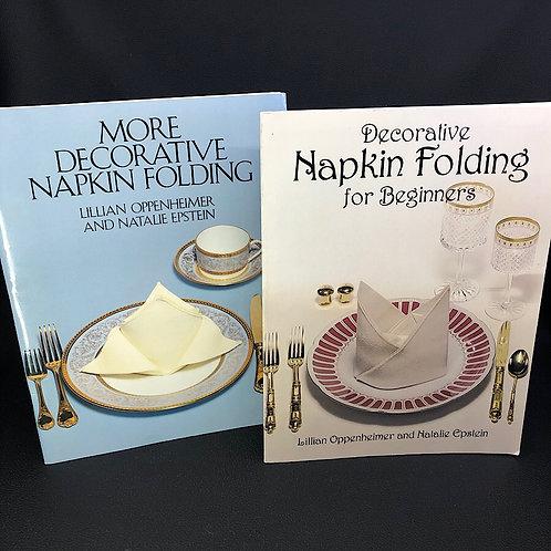 2 BOOKS: DECORATIVE NAPKIN FOLDING