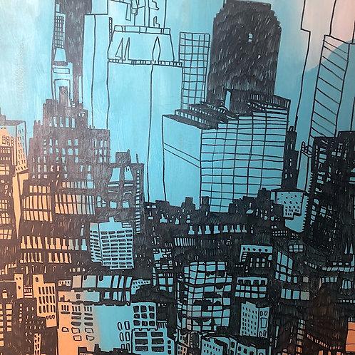 """Chicago"" Original Signed Art By Warren Wucinich"