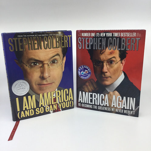 2 BOOKS: I AM AMERICA (AND SO CAN YOU)/AMERICA AGAIN BY STEPHEN COLBERT