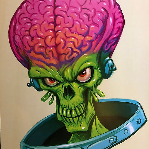 "Edward Frayna ""Ack Ack"" Mars Attacks! Art Print"
