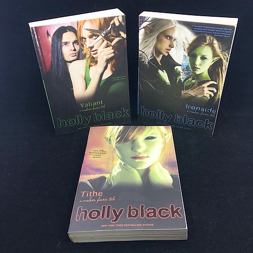 3 BOOKS: A MODERN FAERIE TALE SERIES- TITHE, VALIANT, IRONSIDE BY HOLLY BLACK