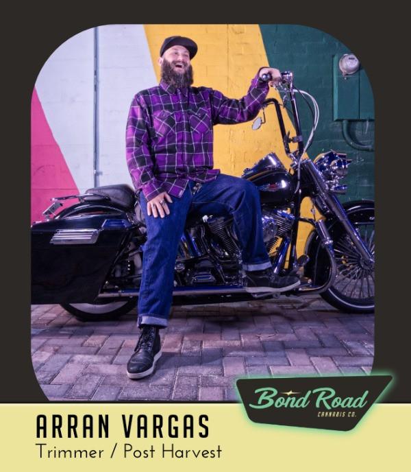 Arran Vargas on his motorcycle in Downtown Las Vegas