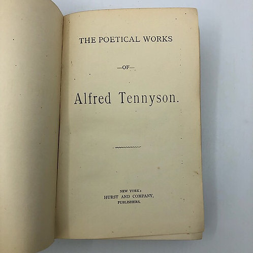 THE POETICAL WORKS OF ALFRED TENNYSON BY HURST & COMPANY