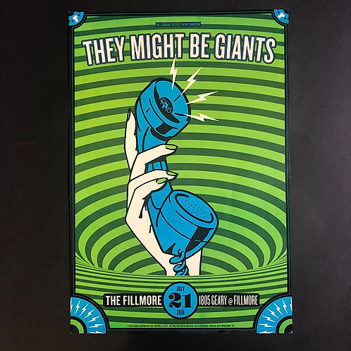 They Might Be Giants July-21-2016 The Fillmore Concert Poster