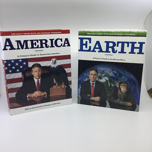 2 BOOKS: AMERICA/EARTH BY THE DAILY SHOW