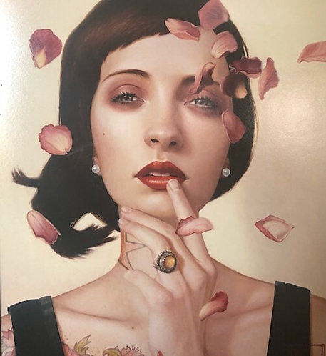 """Rose Zephyr"" Framed Limited Edition Giclee By Kris Lewis"