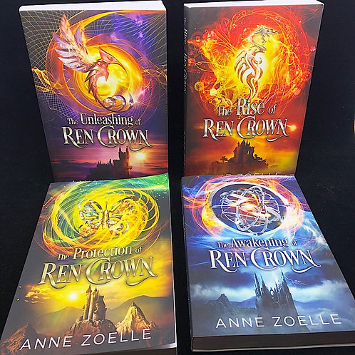 4 BOOKS: REN CROWN- THE AWAKENING, THE PROTECTION, THE RISE, THE UNLEASHING