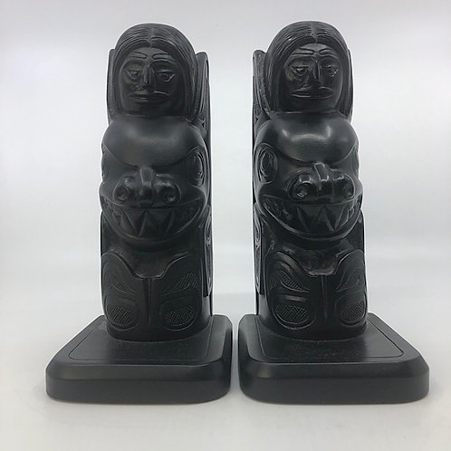 Totem Bookends Vintage BOMA Canada