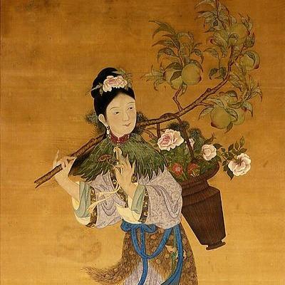 Goddess Magu Holding Hemp