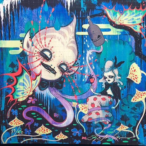 """Camille Rose Garcia Signed Limited Edition Blotter Art """"Sneewitchen"""""""