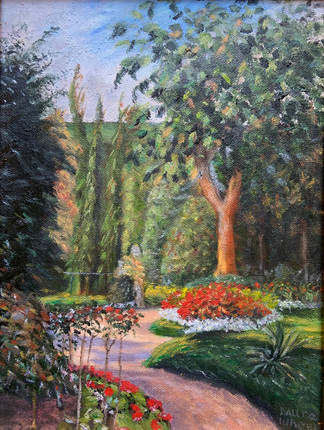 Study of a garden painted by Pissaro