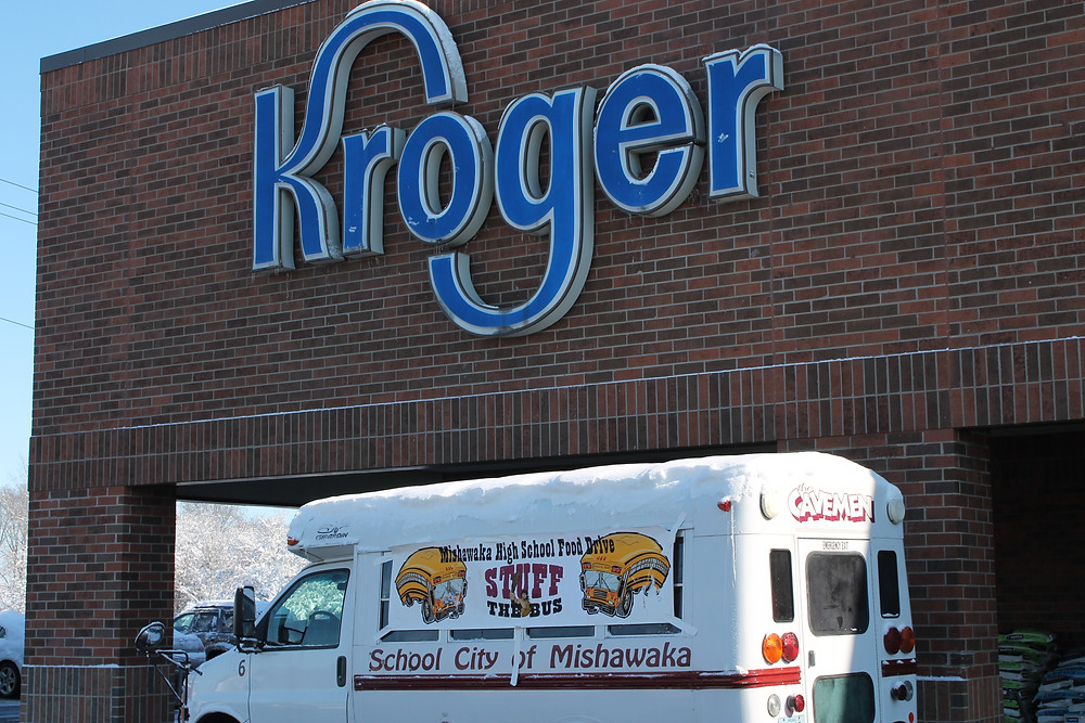 Stuff-A-Bus in front of Kroger on Sunday, November 22.