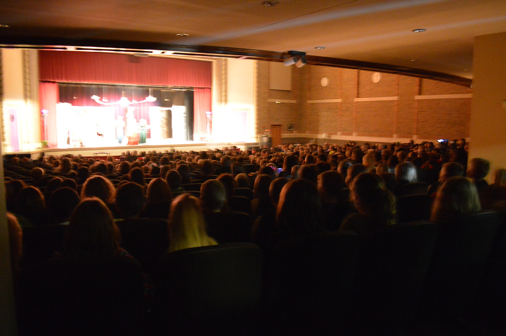 Elementary students watching the 10am show of MHS theater's Transly-mania.