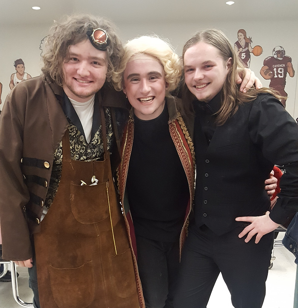 Jonah JoJo-Hughes, Michael Day, and Dylan Barnett after Beauty and The Beast