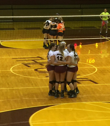 Sports: Volleyball wins big in final home match