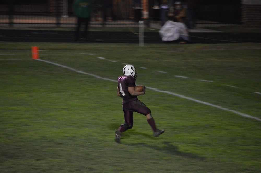 Marshall charges in for a long score