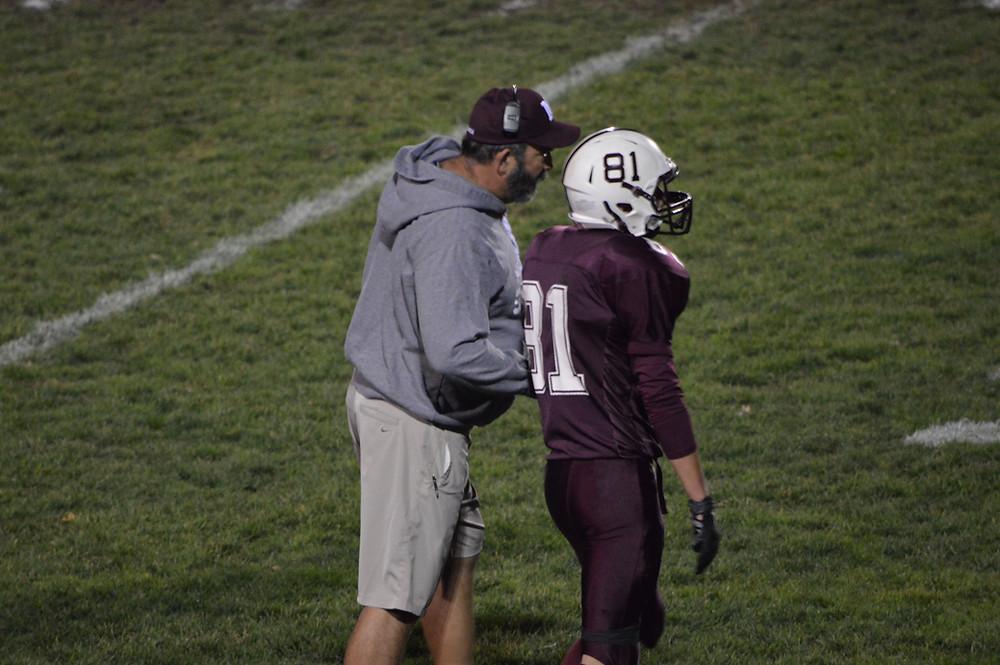 Coach Curtis directs Wroblewski