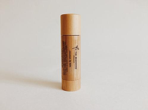 Natural Organic Cinnamon lip balm-lip moisturizer-chop stick-bamboo-clean-safe beauty-healthy product-great gift