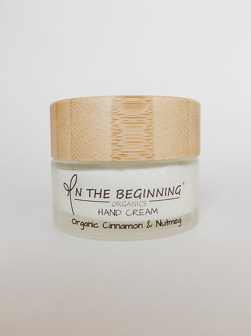 Natural/Vegan Organic Cinnamon, Nutmeg mini hand cream/lotion/moisturizer
