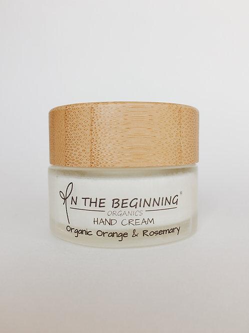 Natural/Vegan Organic Orange, Rosemary mini hand cream/lotion/moisturizer