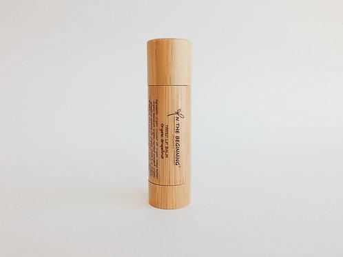 Natural Organic Grapefruit tinted lip balm-lip moisturizer-chop stick-bamboo-clean-safe beauty-great healthy gift