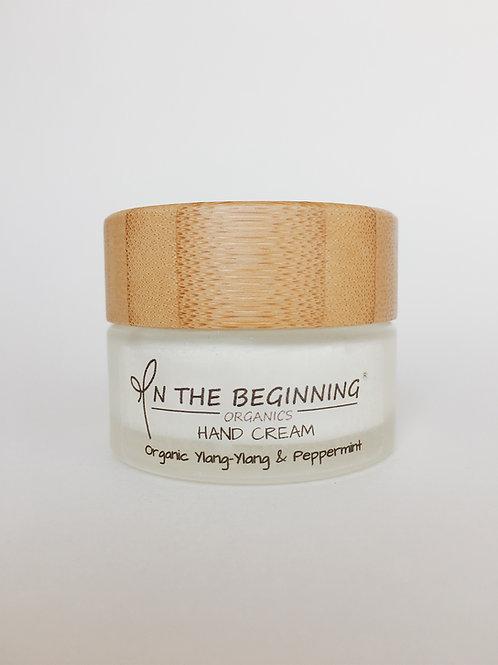 Natural/Vegan Organic Ylang-Ylang, Peppermint mini hand cream/lotion/moisturizer