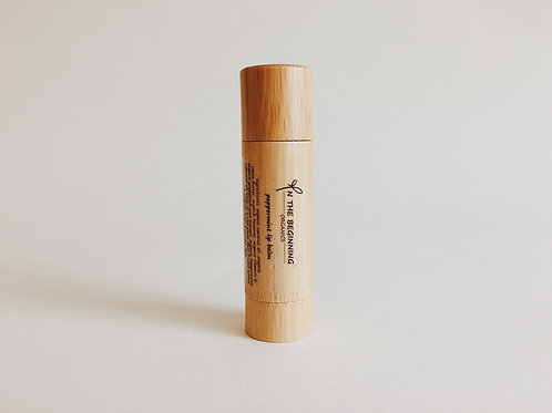 Natural Organic Peppermint lip balm-lip moisturizer-chop stick-bamboo-clean-safe beauty-healthy product-great gift