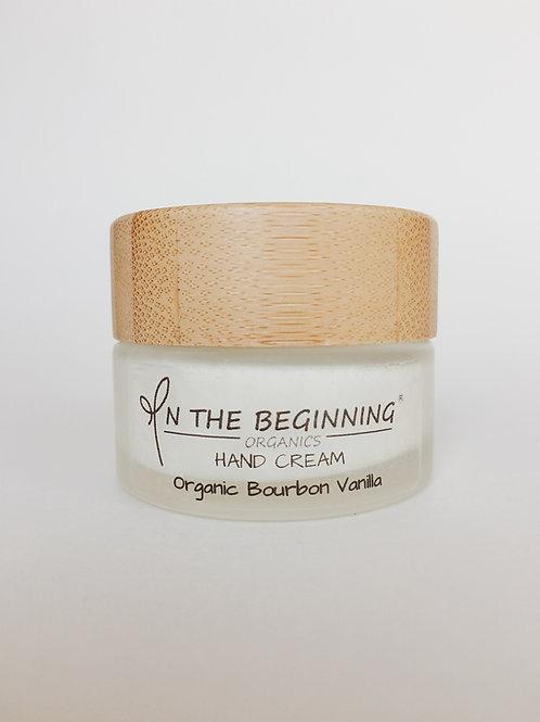 Natural/Vegan Organic Bourbon Vanilla mini hand cream/lotion/moisturizer